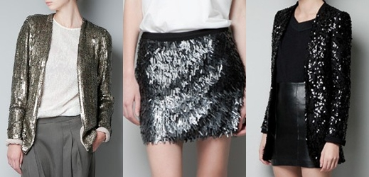 Chaquetas y falda Glitter de ZARA