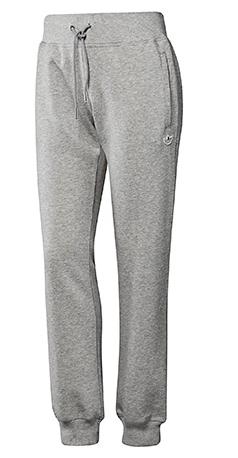 pantalón de chándal de felpa con puño Mujer Adidas