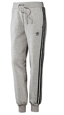 pantalón de felpa con bolsillos de cremallera Girly Mujer Adidas