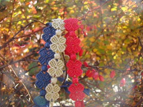 Pulsera crucuane- trebol tres colores