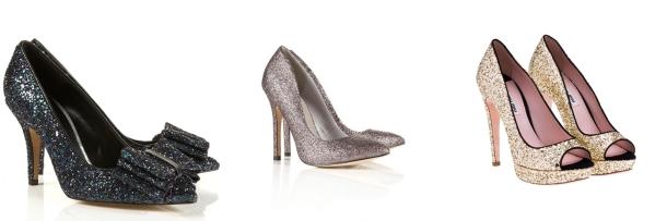 Zapatos glitter TopShop y MiuMiu