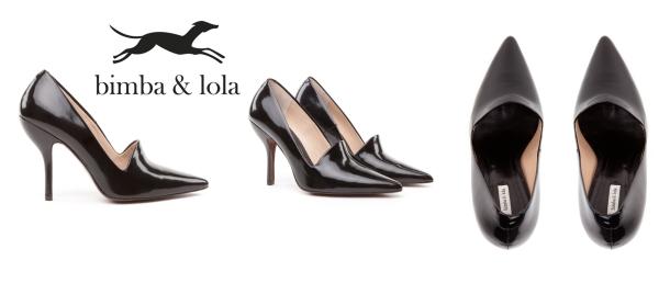 zapatos negros de bimba y lola
