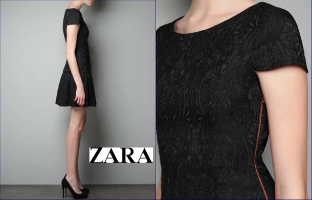 Zara vestido brocado