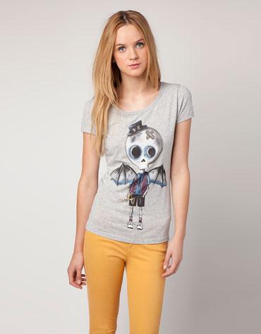 camiseta 3 bershka