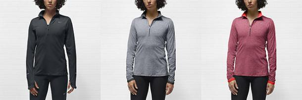 nikeelement half zip