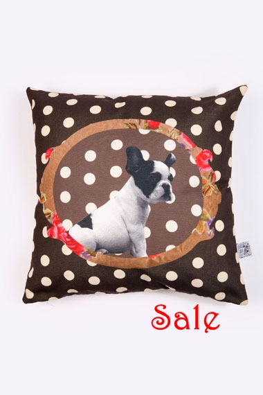 Pug Cushion Cover sale
