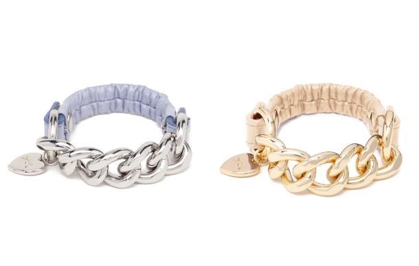 pulsera cadena B&L-oro y plata