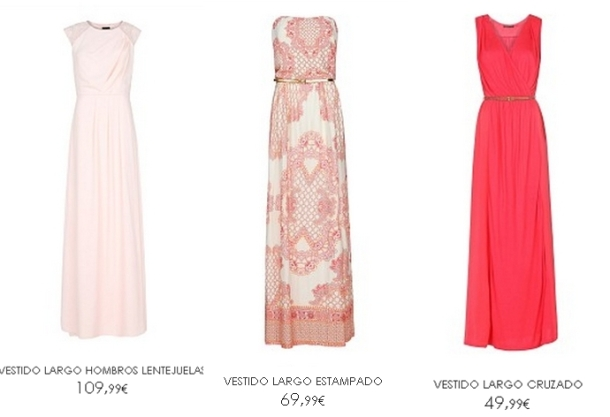 VESTIDOS LARGOS DE COCKTAIL MANGO