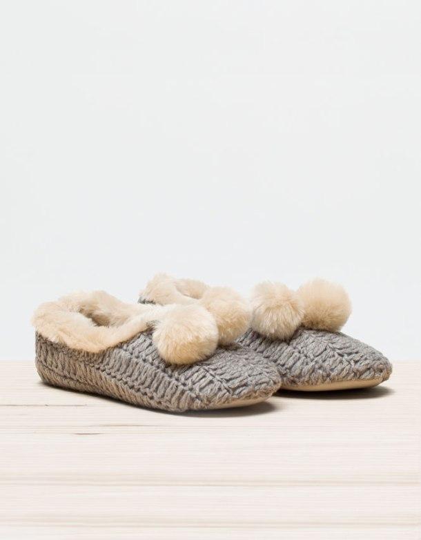 Zapatillas de lana de OYSHO