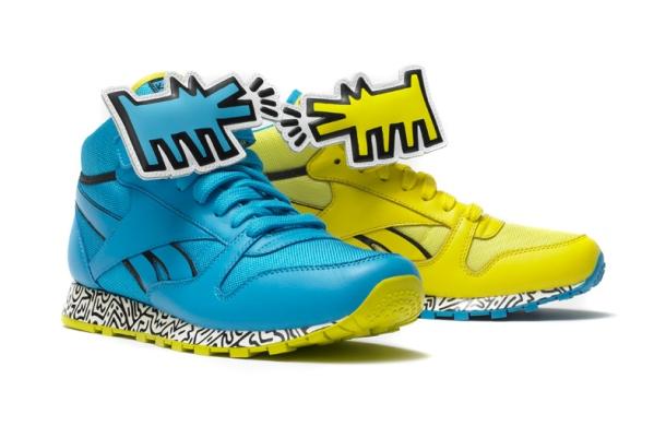 zapatillas de Reebok en colaboración con la Fundación Keith Haring