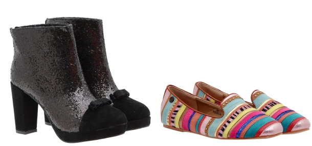 Botines lady glitter y slipper etnicas