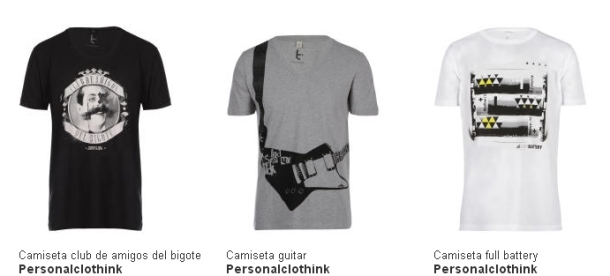 Camisetas personalcothink hombre
