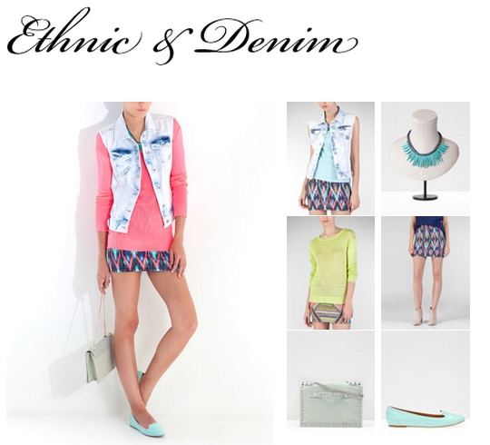 Etnic and denim_Stradivarius
