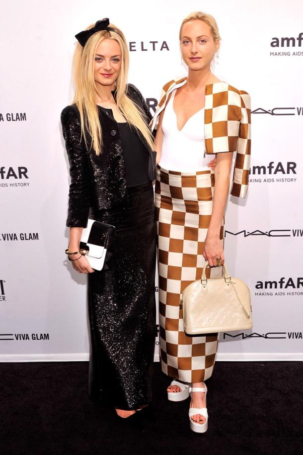 Las hermanas Virginie y Claire Courtin-Clarins_gala amFAR Nueva York