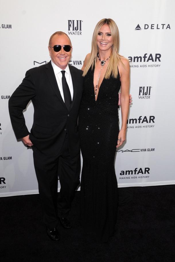 Michael Kors y Heidi Klum gala amfAR