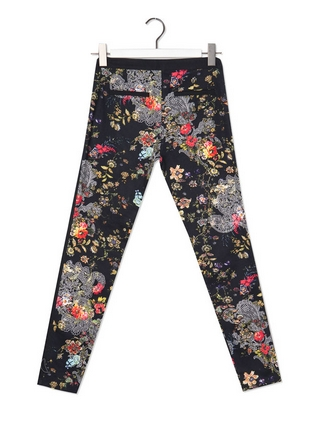 estampado riental back pantalon