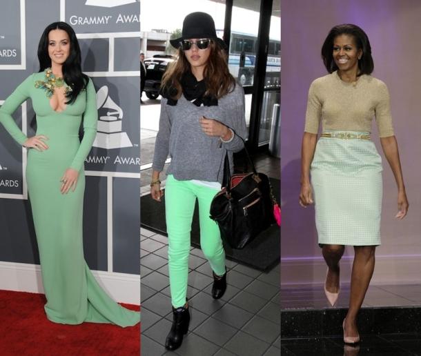 famosas color menta_mint green