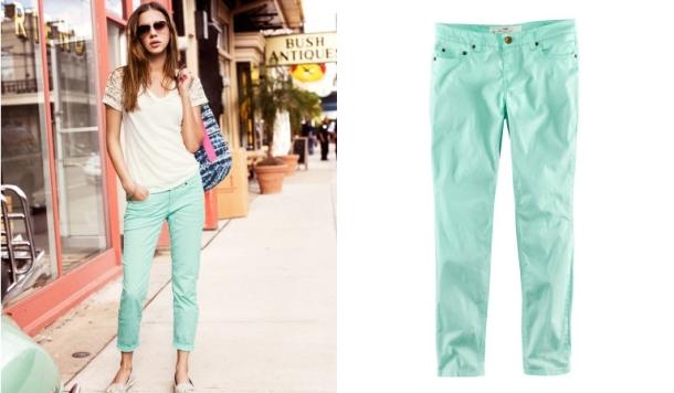 Pantalones tobilleros mint green_H&M