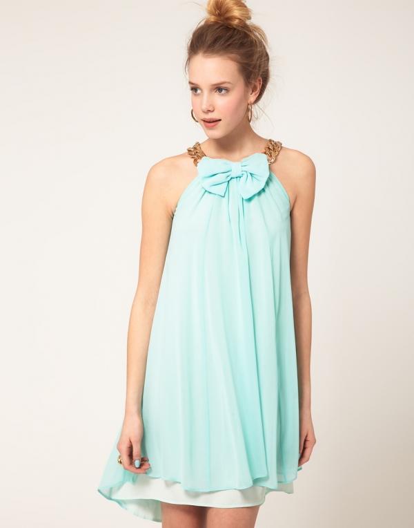 vestido color menta de Asos