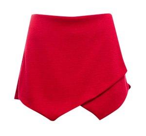falda origami roja