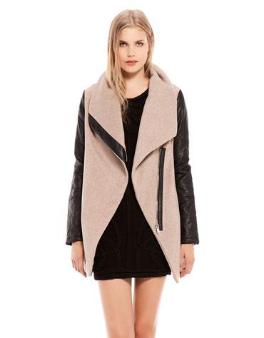 abrigo mezcla tejidos