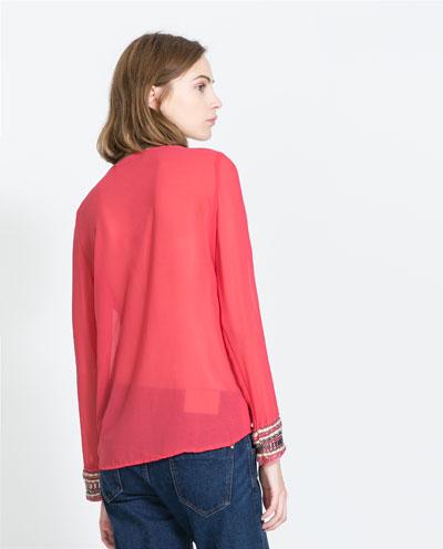 blusa rojo anaranjado